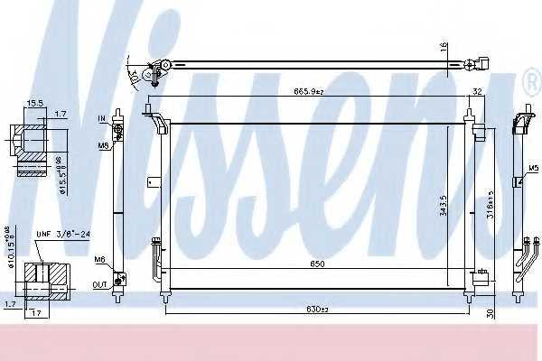 Конденсатор кондиционера NISSENS 940557 - изображение