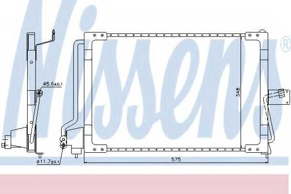 Конденсатор кондиционера NISSENS 94117 - изображение