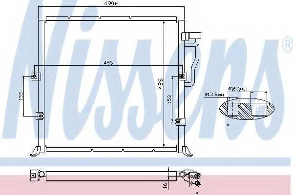 Конденсатор кондиционера NISSENS 94157 - изображение