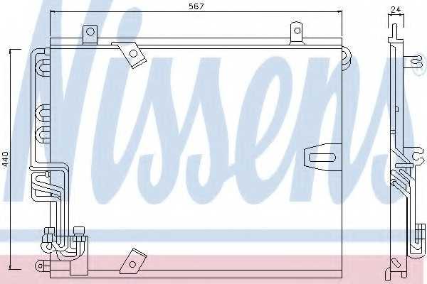 Конденсатор кондиционера NISSENS 94158 - изображение
