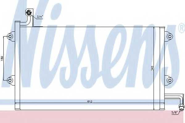 Конденсатор кондиционера NISSENS 94164 - изображение