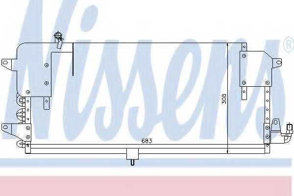Конденсатор кондиционера NISSENS 94174 - изображение