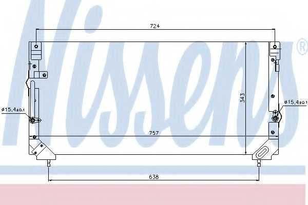Конденсатор кондиционера NISSENS 94184 - изображение