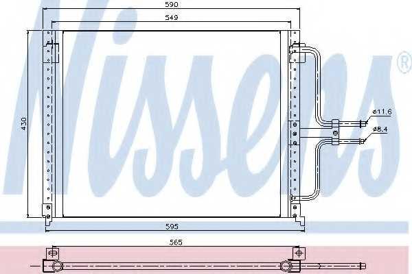 Конденсатор кондиционера NISSENS 94201 - изображение