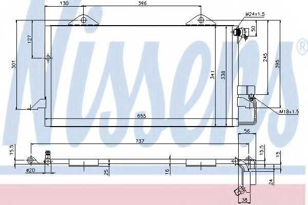 Конденсатор кондиционера NISSENS 94206 - изображение