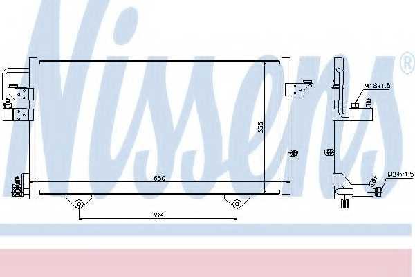 Конденсатор кондиционера NISSENS 94209 - изображение