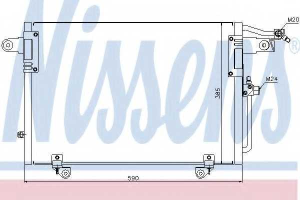 Конденсатор кондиционера NISSENS 94214 - изображение