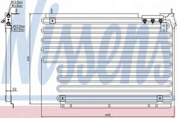 Конденсатор кондиционера NISSENS 94216 - изображение