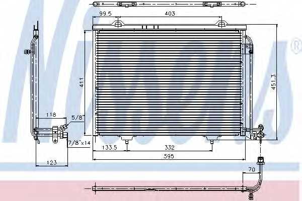 Конденсатор кондиционера NISSENS 94282 - изображение