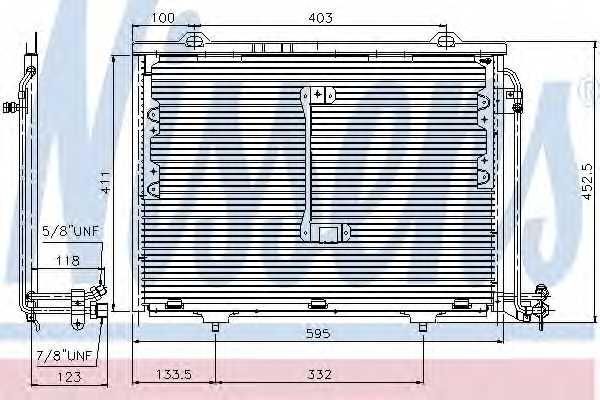 Конденсатор кондиционера NISSENS 94284 - изображение