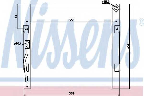 Конденсатор кондиционера NISSENS 94289 - изображение
