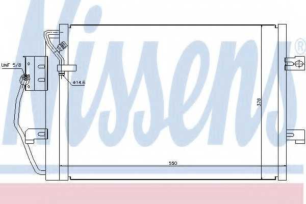 Конденсатор кондиционера NISSENS 94373 - изображение