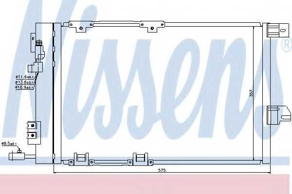 Конденсатор кондиционера NISSENS 94384 - изображение