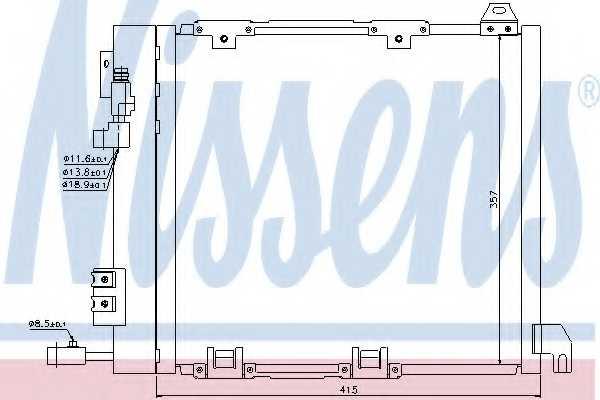 Конденсатор кондиционера NISSENS 94385 - изображение