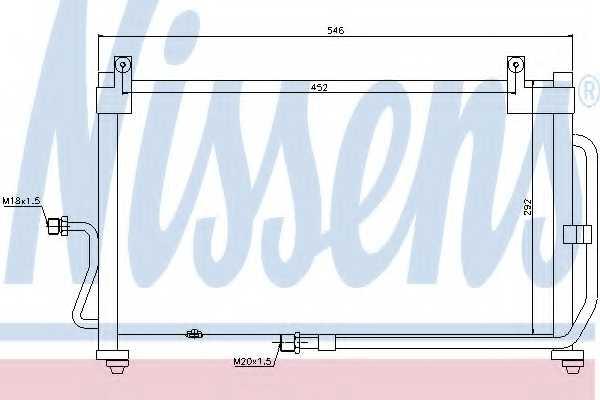 Конденсатор кондиционера NISSENS 94411 - изображение