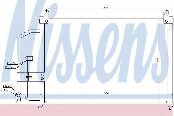 Конденсатор кондиционера NISSENS 94412 - изображение