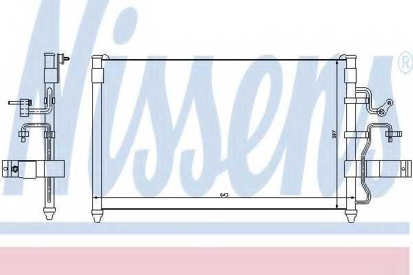 Конденсатор кондиционера NISSENS 94413 - изображение