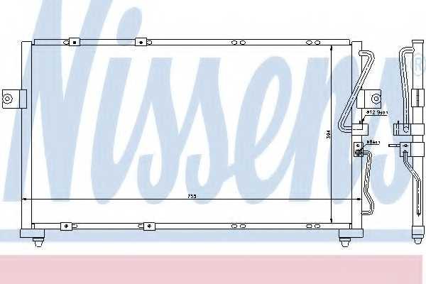 Конденсатор кондиционера NISSENS 94418 - изображение