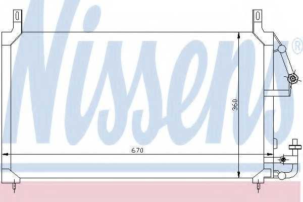 Конденсатор кондиционера NISSENS 94424 - изображение