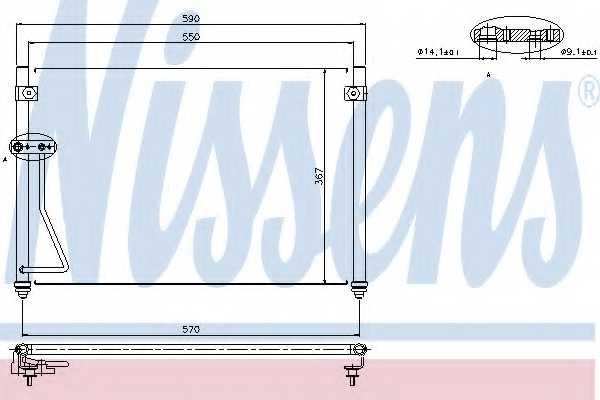 Конденсатор кондиционера NISSENS 94428 - изображение