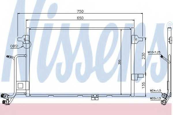Конденсатор кондиционера NISSENS 94430 - изображение