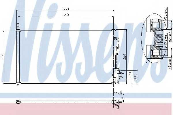 Конденсатор кондиционера NISSENS 94432 - изображение