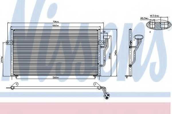 Конденсатор кондиционера NISSENS 94433 - изображение