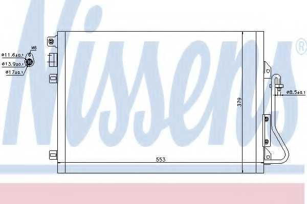 Конденсатор кондиционера NISSENS 94439 - изображение
