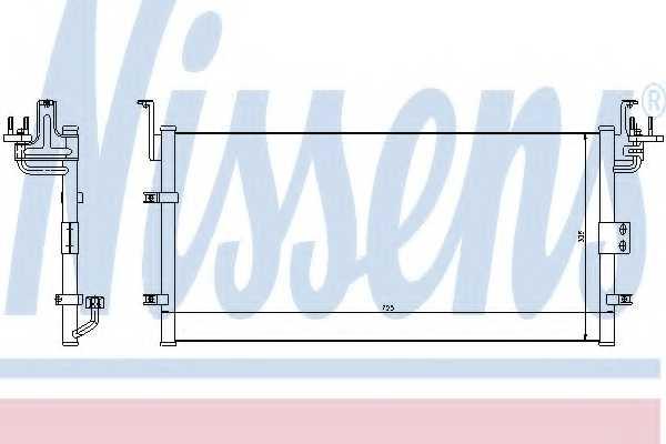 Конденсатор кондиционера NISSENS 94447 - изображение