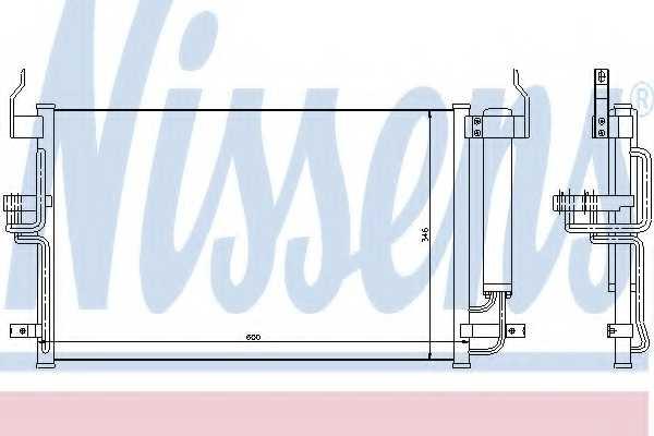 Конденсатор кондиционера NISSENS 94448 - изображение