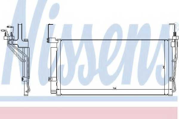 Конденсатор кондиционера NISSENS 94451 - изображение