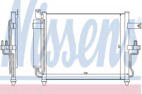Конденсатор кондиционера NISSENS 94452 - изображение