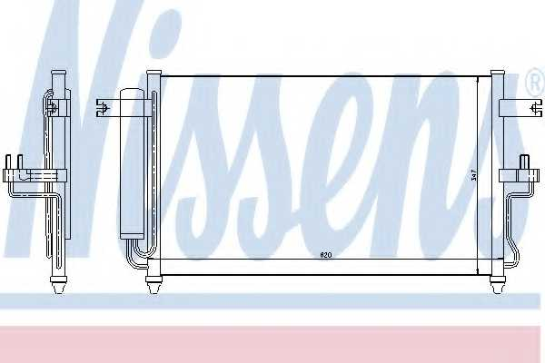 Конденсатор кондиционера NISSENS 94453 - изображение