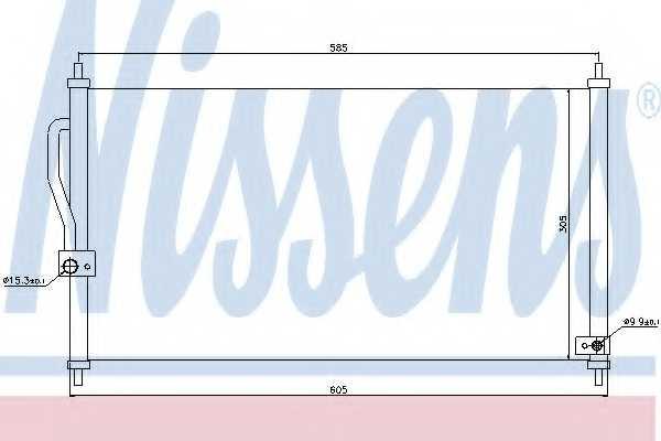Конденсатор кондиционера NISSENS 94458 - изображение