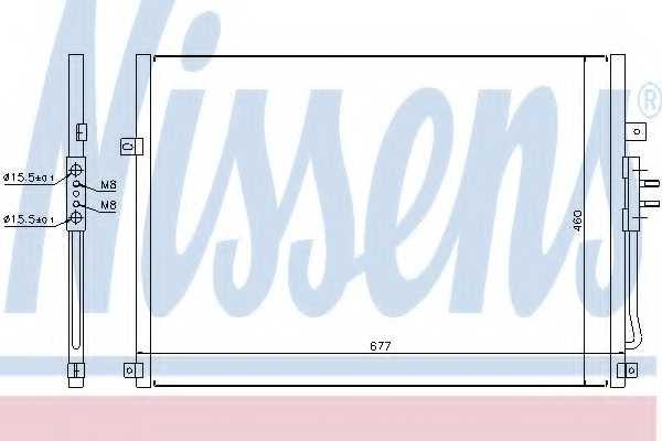 Конденсатор кондиционера NISSENS 94464 - изображение