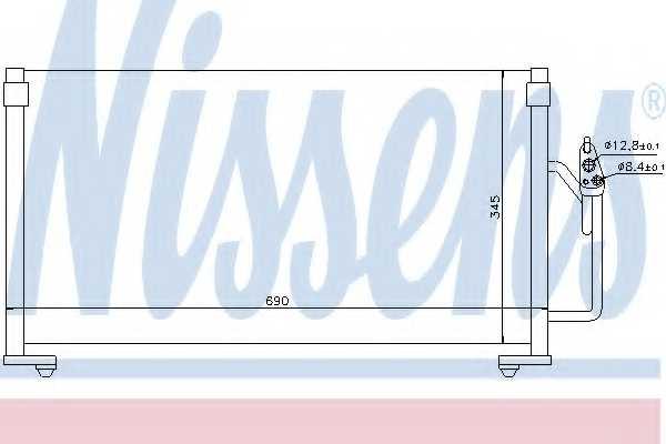 Конденсатор кондиционера NISSENS 94491 - изображение