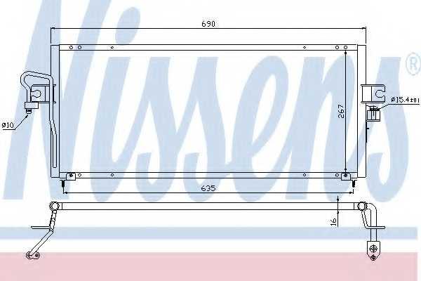 Конденсатор кондиционера NISSENS 94494 - изображение