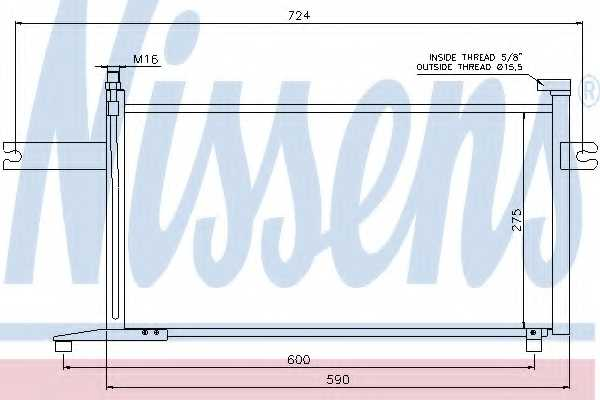 Конденсатор кондиционера NISSENS 94498 - изображение