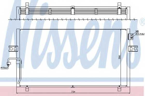 Конденсатор кондиционера NISSENS 94499 - изображение