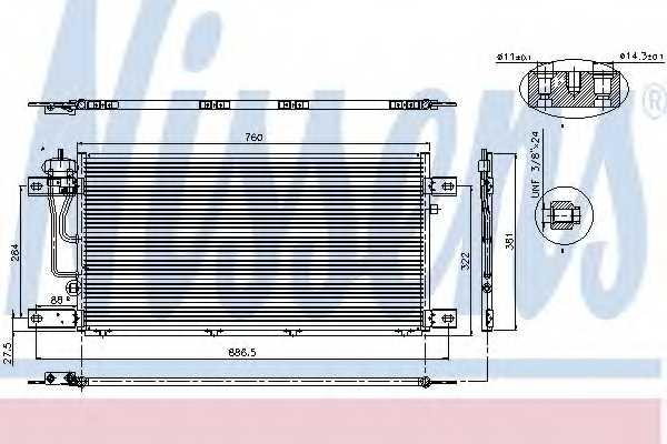 Конденсатор кондиционера NISSENS 94503 - изображение