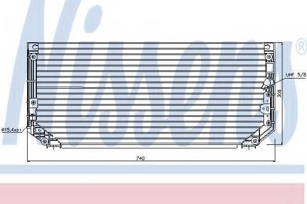 Конденсатор кондиционера NISSENS 94515 - изображение
