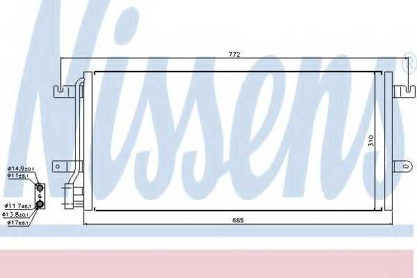 Конденсатор кондиционера NISSENS 94524 - изображение