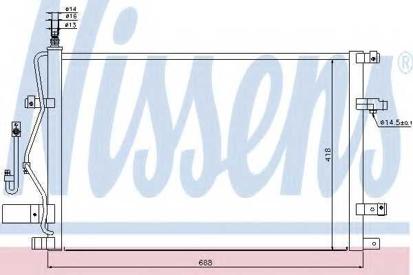 Конденсатор кондиционера NISSENS 94525 - изображение
