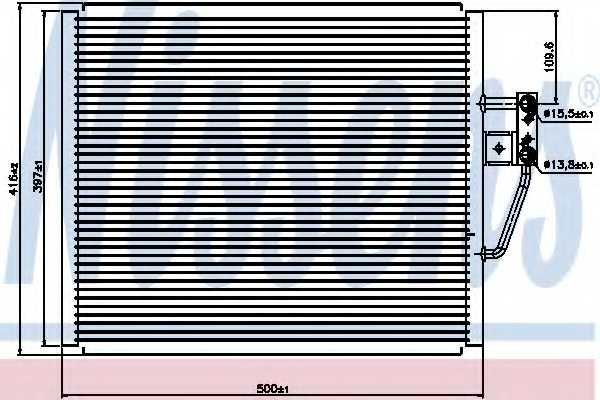 Конденсатор кондиционера NISSENS 94529 - изображение