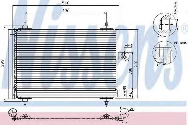 Конденсатор кондиционера NISSENS 94534 - изображение