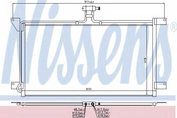 Конденсатор кондиционера NISSENS 94538 - изображение