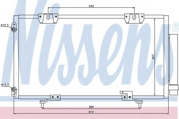 Конденсатор кондиционера NISSENS 94540 - изображение