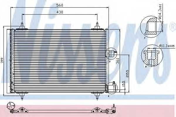 Конденсатор кондиционера NISSENS 94542 - изображение