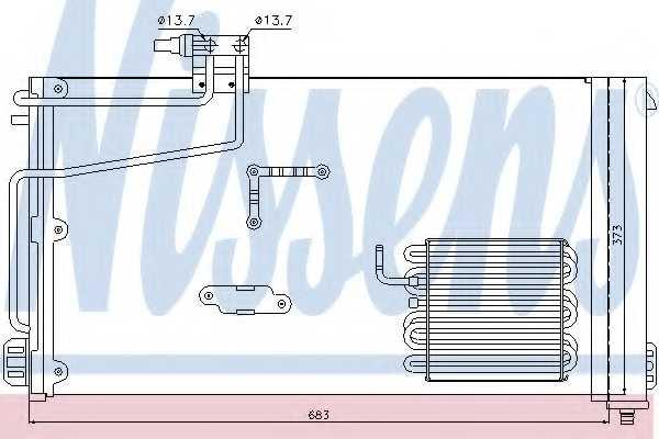 Конденсатор кондиционера NISSENS 94545 - изображение