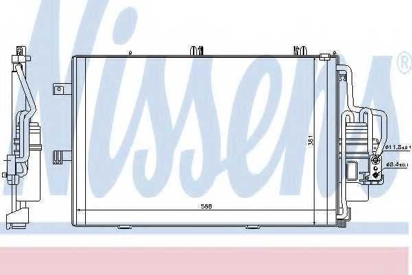 Конденсатор кондиционера NISSENS 94546 - изображение